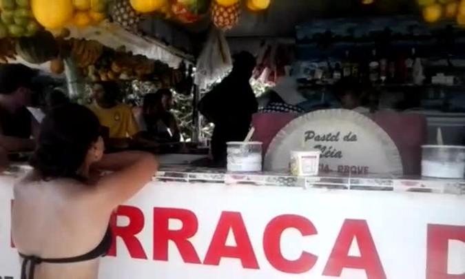 Confusão durante fiscalização em Jurerê, Florianópolis