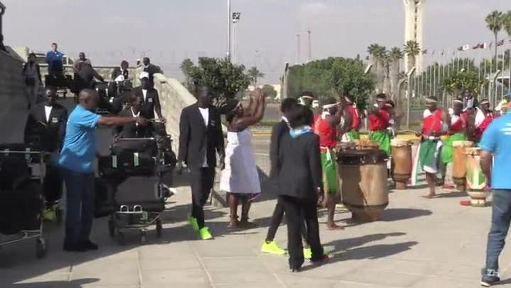 Time de refugiados é recebido com festa no Quênia