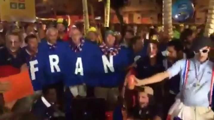 Confira a festa dos torcedores franceses