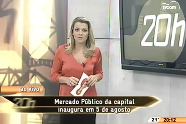 TVCOM 20 Horas - Mercado Público da capital inaugura em 5 de agosto - 15.05.15