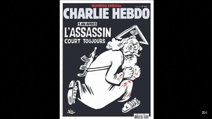\'Charlie Hebdo\' estampa deus assassino na capa