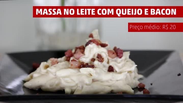 Cremosidade com queijo e bacon