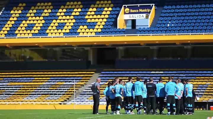 Veja como foi o primeiro treino do Gr�mio na Argentina