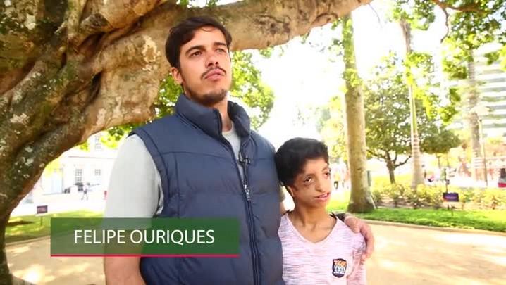 10 anos Hora SC: Felipe criou projeto para ajudar Gabriel
