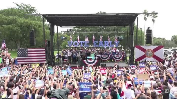 Candidatos cruzam os EUA na reta final da campanha