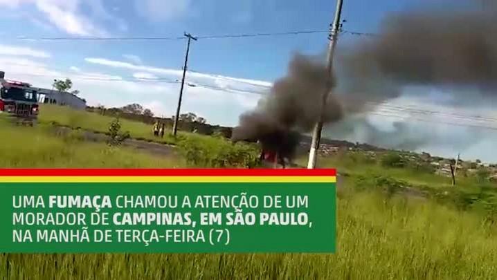 Morador de Campinas (SP) registra explosão de carro