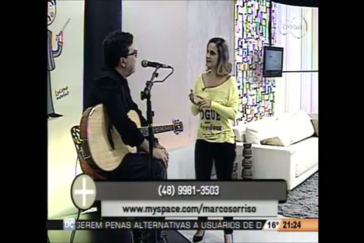 TVCOM Tudo Mais - Músico Marco Sorriso - 5º Bloco - 12-08-2013