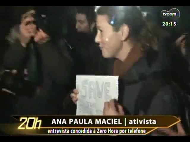 TVCOM 20 Horas - A 1ª entrevista da ativista Ana Paula Maciel após sua libertação na Rússia - Bloco 2 - 22/11/2013