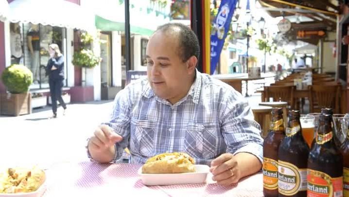 Harmonização Batata com currywurst