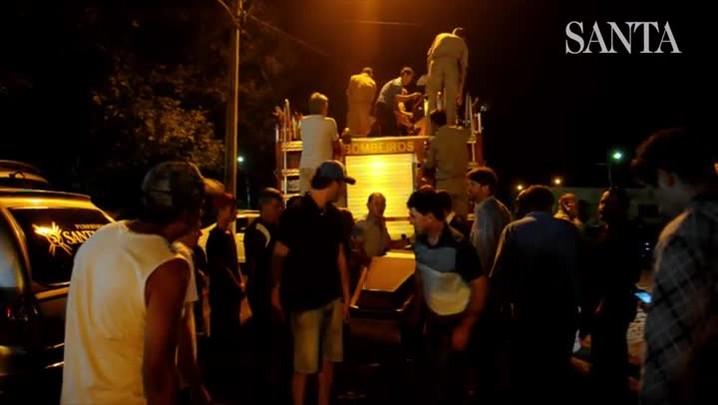 Despedida às vítimas do acidente na Serra Dona Francisca