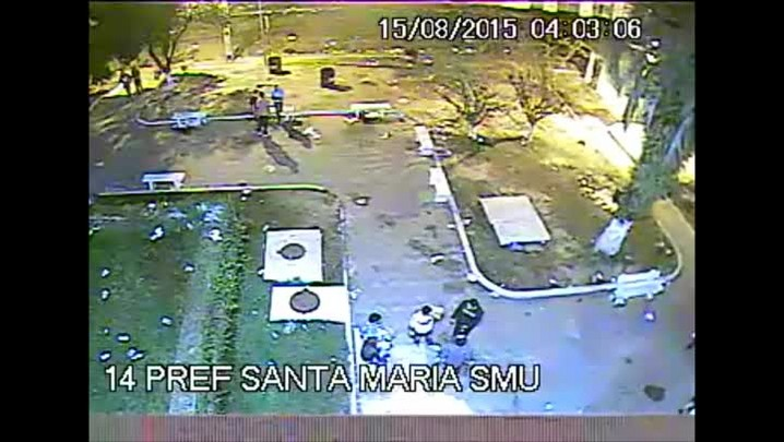 Câmeras flagram assassinato na Praça Saturnino de Brito em Santa Maria