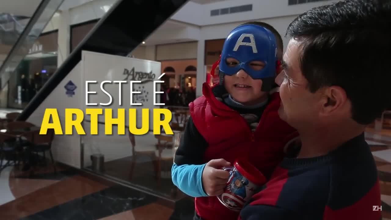 Capitão Arthur conhece Capitão América