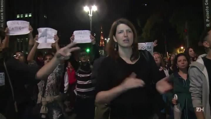 Manifestantes protestam em SP e no Rio contra Temer