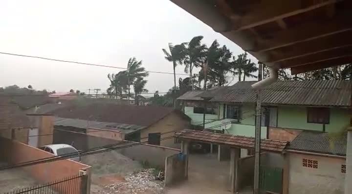 Vento forte atinge zona Oeste de Joinville