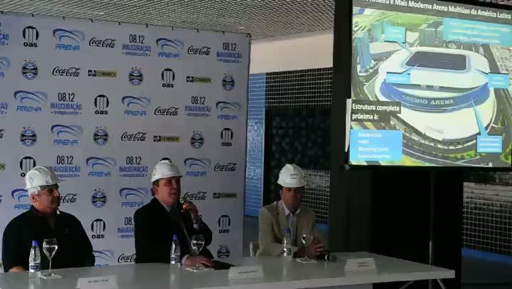 Grêmio projeta Arena como referência para espetáculos no RS