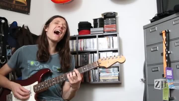 A guitarra de Erick Endres