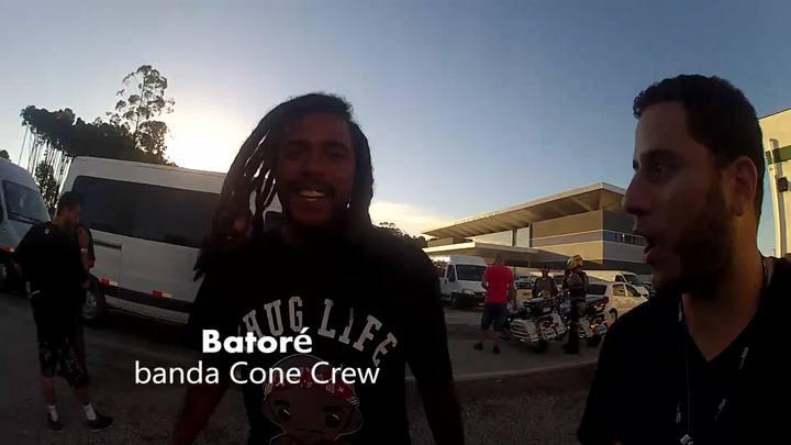Chegada da Cone Crew e papo rápido com Batoré, integrante da banda