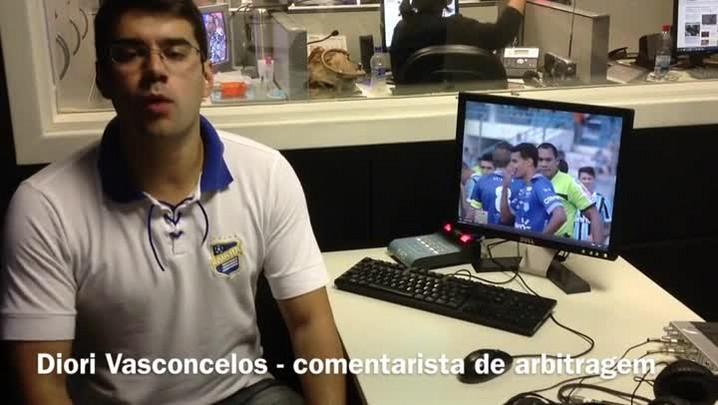 Márcio Chagas acertou ao marcar o pênalti em Luan. 16/02/2014