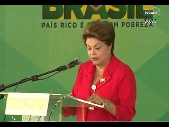 TVCOM 20 Horas - Dilma participa de inauguração de hospital na Restinga - Bloco 3 - 04/07/2014