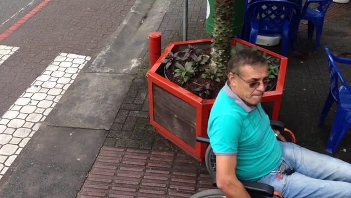 As dificuldades enfrentadas por cadeirantes em Jaraguá do Sul