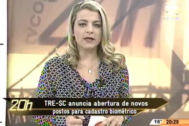 TVCOM 20 Horas - TRE-SC anuncia abertura de novos postos para cadastro biométrico - 24.07.15