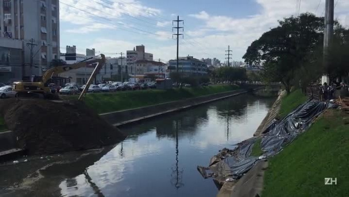 Obras de reparo no talude do Arroio Dilúvio iniciam nesta sexta