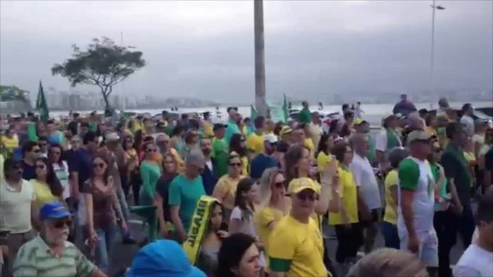 Como os catarinenses protestaram