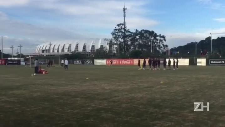 Em reapresentação após vitória, reservas realizam trabalho de finalização