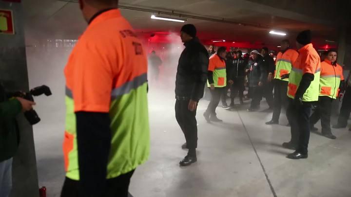 Confusão no Beira-Rio após a derrota para o Palmeiras