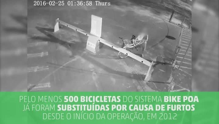 Uma bicicleta é furtada por dia no sistema Bike Poa