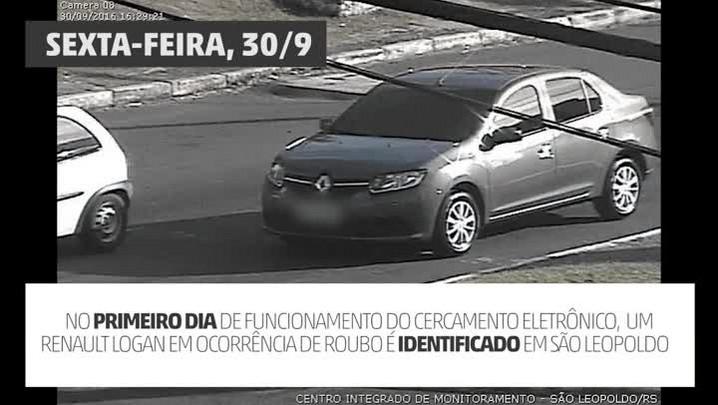 Cercamento eletrônico de São Leopoldo recupera veículo roubado em Porto Alegre