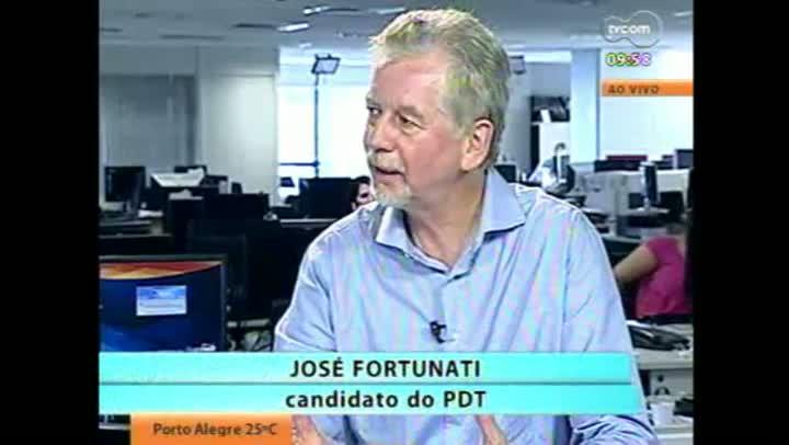 Candidato José Fortunati em entrevista à TVCOM