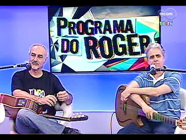Programa do Roger - Músicos Vinícius Brum e Carlos Cachoeira falam do projeto \'O sucesso dos festivais\' - bloco 1 - 25/11/2013