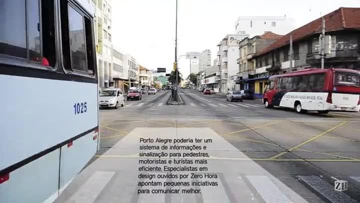 Mudanças na sinalização urbana de Porto Alegre