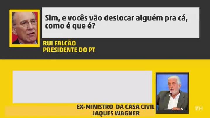 Conversa entre Jaques Wagner e Rui Falcão registra pedido de ação para evitar prisão preventiva de Lula