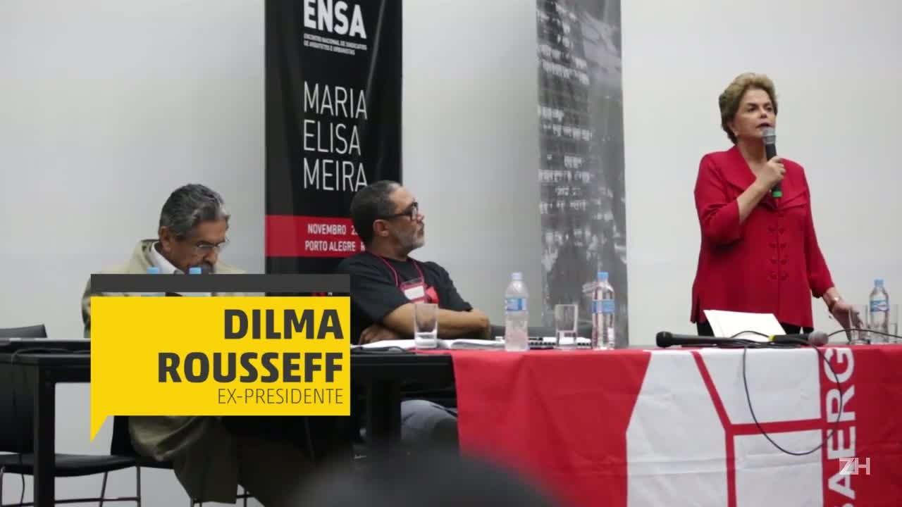 Dilma participa de primeiro evento público em Porto Alegre desde seu afastamento