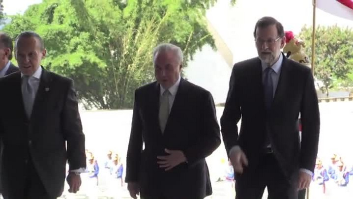 Temer recebe primeiro-ministro da Espanha