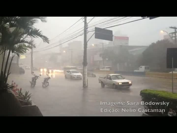 Chuva atinge a Capital. 07/12/2012