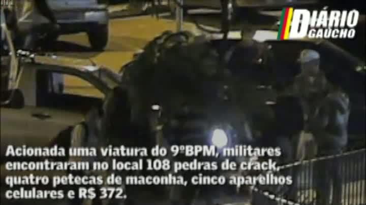 Câmeras flagram tráfico de drogas em Porto Alegre