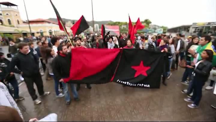 Manifestação em Florianópolis - quinta-feira 20 de junho