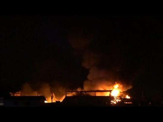 Incêndio no bairro Boa Vista, em Joinville