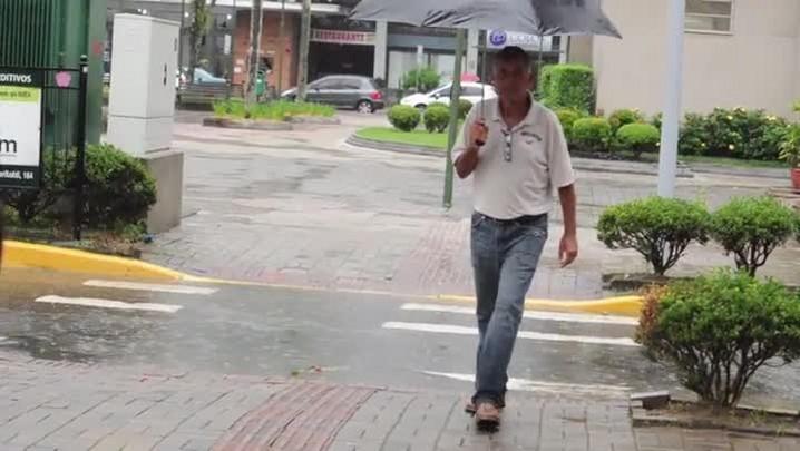 Desafios de andar em Joinville em dia de chuva