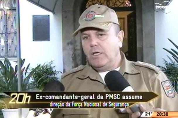 TVCOM 20 Horas - Ex-comandante-geral de PMSC assume direção da Força Nacional de Segurança - 25.05.15