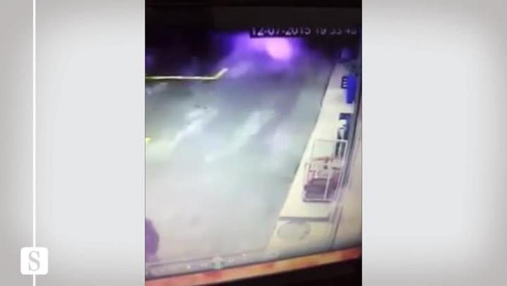Assalto em posto de gasolina em Rio do Sul