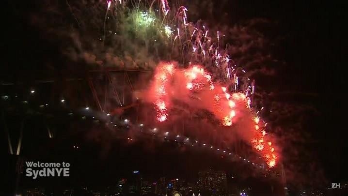 Sydney comemora a chegada de 2016