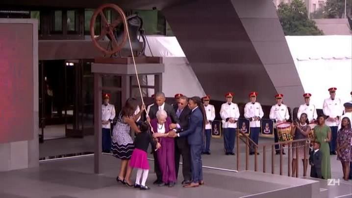 Obama inaugura museu de história afro-americana