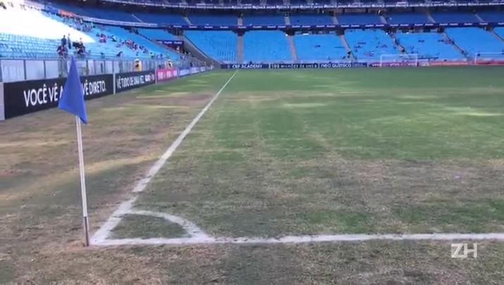Como ficou o gramado da Arena após o show do Coldplay