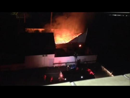 Incêndio queima parte de restaurante em Joinville