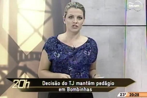 TVCOM 20h - Decisão do TJ mantem pedágio em Bombinhas - 3.12.14