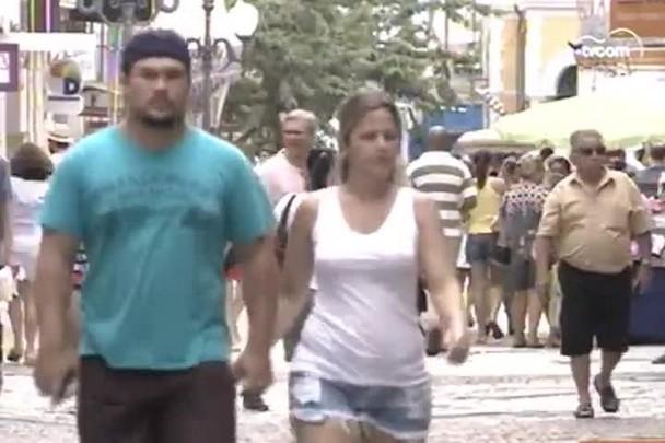TVCOM 20h - Procon vistoria atendimento em bancos de Florianópolis - 5.1.15